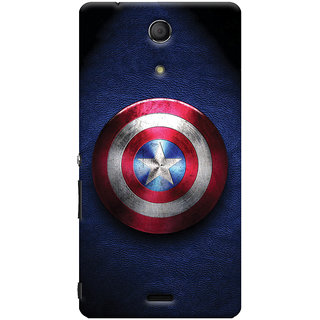 Oyehoye Captain America Printed Designer Back Cover For Sony Xperia ZR Mobile Phone - Matte Finish Hard Plastic Slim Case