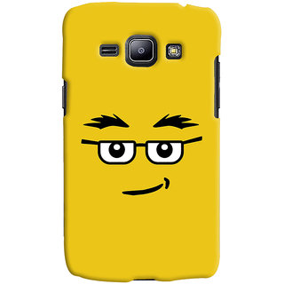 Oyehoye Quirky Smiley Expression Printed Designer Back Cover For Samsung Galaxy J1 (2016 Edition) Mobile Phone - Matte Finish Hard Plastic Slim Case