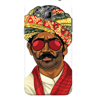 Oyehoye Desi Swag Quirky Printed Designer Back Cover For Samsung Galaxy J3 (2016) Mobile Phone - Matte Finish Hard Plastic Slim Case