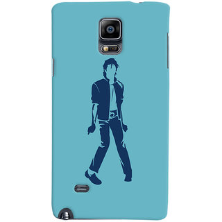 Oyehoye Michael Jackson Printed Designer Back Cover For Samsung Galaxy Note 4 Mobile Phone - Matte Finish Hard Plastic Slim Case