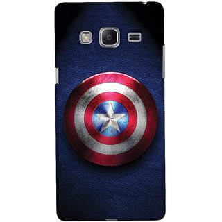 Oyehoye Captain America Printed Designer Back Cover For Samsung Galaxy Z3 Mobile Phone - Matte Finish Hard Plastic Slim Case