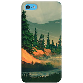 Oyehoye Nature Landscape Travellers Choice Printed Designer Back Cover For  5C Mobile Phone - Matte Finish Hard Plastic Slim Case