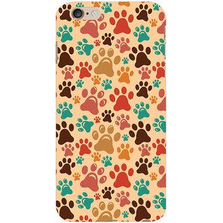 Oyehoye Animal Paw Print Pattern Style Printed Designer Back Cover For  6 Plus Mobile Phone - Matte Finish Hard Plastic Slim Case