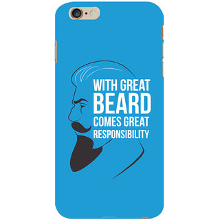 Oyehoye Beard Quote Quirky Printed Designer Back Cover For   6 Plus Mobile Phone - Matte Finish Hard Plastic Slim Case
