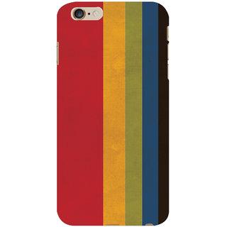 Oyehoye Colourfull Pattern Style Printed Designer Back Cover For  6 Plus Mobile Phone - Matte Finish Hard Plastic Slim Case