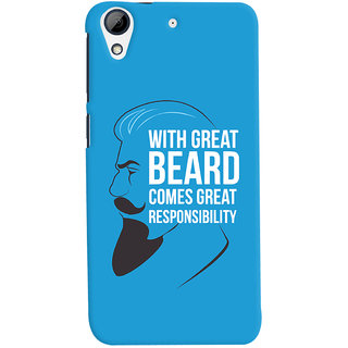 Oyehoye Beard Quote Quirky Printed Designer Back Cover For HTC Desire 626 / 626 G Plus Mobile Phone - Matte Finish Hard Plastic Slim Case