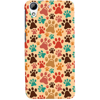 Oyehoye Animal Paw Print Pattern Style Printed Designer Back Cover For HTC Desire 728 / 728G / Dual Sim Mobile Phone - Matte Finish Hard Plastic Slim Case