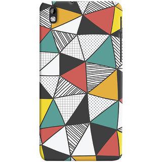 Oyehoye Abstract Style Modern Art Printed Designer Back Cover For HTC Desire 816 Mobile Phone - Matte Finish Hard Plastic Slim Case