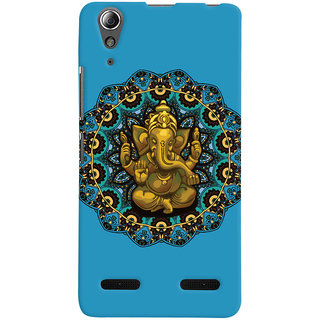 Oyehoye Lord Ganesha Ganpati Devotional Printed Designer Back Cover For Lenovo A6000 Mobile Phone - Matte Finish Hard Plastic Slim Case
