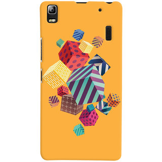 Oyehoye Abstract Style Modern Art Printed Designer Back Cover For Lenovo A7000 Mobile Phone - Matte Finish Hard Plastic Slim Case