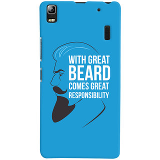 Oyehoye Beard Quote Quirky Printed Designer Back Cover For Lenovo A7000 Mobile Phone - Matte Finish Hard Plastic Slim Case