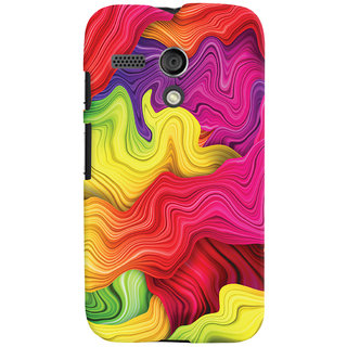 Oyehoye Colourful Pattern Style Printed Designer Back Cover For Motorola Moto G Mobile Phone - Matte Finish Hard Plastic Slim Case