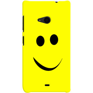 Oyehoye Smiley Expressions Style Printed Designer Back Cover For Microsoft Lumia 535 / Dual Sim Mobile Phone - Matte Finish Hard Plastic Slim Case