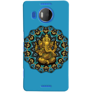 Oyehoye Lord Ganesha Ganpati Devotional Printed Designer Back Cover For Microsoft Lumia 950 XL Mobile Phone - Matte Finish Hard Plastic Slim Case