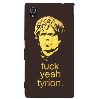 Oyehoye Tyron From Game Of Thrones Printed Designer Back Cover For Sony Xperia M4 Aqua - Not Dual Mobile Phone - Matte Finish Hard Plastic Slim Case