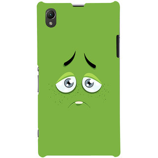 Oyehoye Smiley Expressions Style Printed Designer Back Cover For Sony Xperia Z1 Mobile Phone - Matte Finish Hard Plastic Slim Case