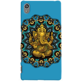Oyehoye Lord Ganesha Ganpati Devotional Printed Designer Back Cover For Sony Xperia Z5 Plus/ Z5 Premium Mobile Phone - Matte Finish Hard Plastic Slim Case