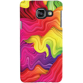 Oyehoye Colourful Pattern Style Printed Designer Back Cover For Samsung Galaxy A3 A310 (2016 Edition) Mobile Phone - Matte Finish Hard Plastic Slim Case