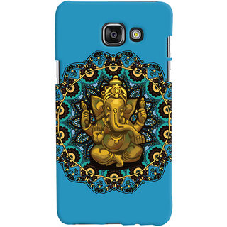 Oyehoye Lord Ganesha Ganpati Devotional Printed Designer Back Cover For Samsung Galaxy A5 A510 (2016 Edition) Mobile Phone - Matte Finish Hard Plastic Slim Case