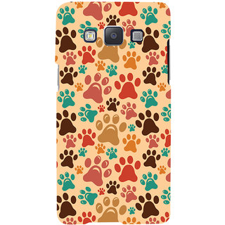 Oyehoye Animal Paw Print Pattern Style Printed Designer Back Cover For Samsung Galaxy A5 (2015) Mobile Phone - Matte Finish Hard Plastic Slim Case