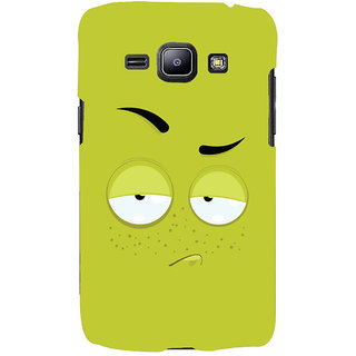 Oyehoye Smiley Expression Printed Designer Back Cover For Samsung Galaxy J1 (2016 Edition) Mobile Phone - Matte Finish Hard Plastic Slim Case