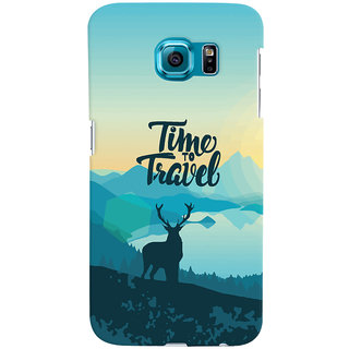 Oyehoye Travel Quote Travellers Choice Printed Designer Back Cover For Samsung Galaxy S6 Edge Mobile Phone - Matte Finish Hard Plastic Slim Case
