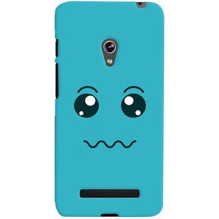 Oyehoye Smiley Expressions Style Printed Designer Back Cover For Asus Zenfone 5 Mobile Phone - Matte Finish Hard Plastic Slim Case
