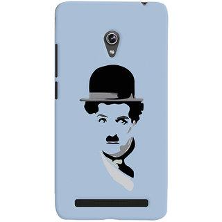 Oyehoye Charlie Chaplin Minimal Style Printed Designer Back Cover For Asus Zenfone 6 Mobile Phone - Matte Finish Hard Plastic Slim Case