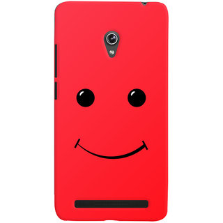 Oyehoye Smiley Expressions Style Printed Designer Back Cover For Asus Zenfone 6 Mobile Phone - Matte Finish Hard Plastic Slim Case