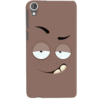 Oyehoye Smiley Drunk or Tipsy Expression Printed Designer Back Cover For HTC Desire 820 Mobile Phone - Matte Finish Hard Plastic Slim Case