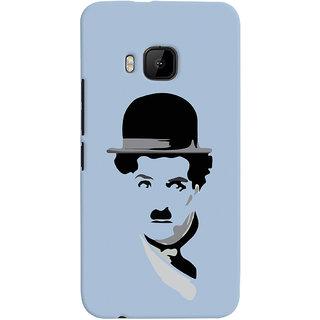 Oyehoye Charlie Chaplin Minimal Style Printed Designer Back Cover For HTC One M9 Mobile Phone - Matte Finish Hard Plastic Slim Case