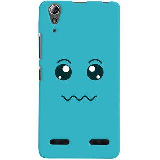 Oyehoye Smiley Expressions Style Printed Designer Back Cover For Lenovo A6000 Mobile Phone - Matte Finish Hard Plastic Slim Case