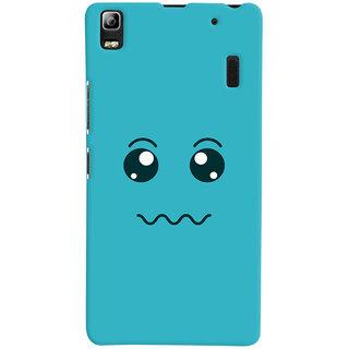 Oyehoye Smiley Expressions Style Printed Designer Back Cover For Lenovo A7000 Mobile Phone - Matte Finish Hard Plastic Slim Case