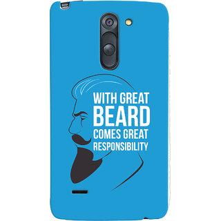 Oyehoye Beard Quote Quirky Printed Designer Back Cover For LG G3 Stylus / Optimus G3 Stylus Mobile Phone - Matte Finish Hard Plastic Slim Case