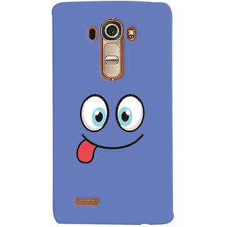 Oyehoye Smiley Expressions Style Printed Designer Back Cover For LG G4 H818N Mobile Phone - Matte Finish Hard Plastic Slim Case