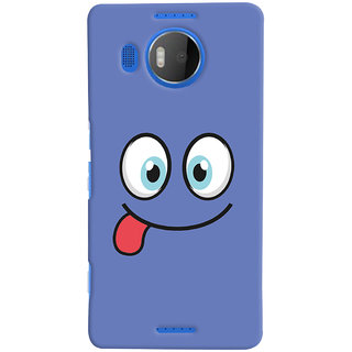Oyehoye Smiley Expressions Style Printed Designer Back Cover For Microsoft Lumia 950 XL Mobile Phone - Matte Finish Hard Plastic Slim Case