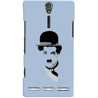 Oyehoye Charlie Chaplin Minimal Style Printed Designer Back Cover For Sony Xperia SL Mobile Phone - Matte Finish Hard Plastic Slim Case