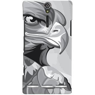 Oyehoye Animal Modern Art Printed Designer Back Cover For Sony Xperia SL Mobile Phone - Matte Finish Hard Plastic Slim Case