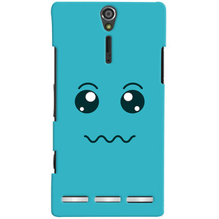 Oyehoye Smiley Expressions Style Printed Designer Back Cover For Sony Xperia SL Mobile Phone - Matte Finish Hard Plastic Slim Case