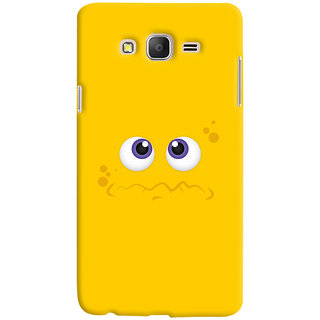 Oyehoye Smiley Expressions Style Printed Designer Back Cover For Samsung Galaxy ON7 Mobile Phone - Matte Finish Hard Plastic Slim Case