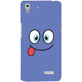 Oyehoye Smiley Expressions Style Printed Designer Back Cover For Oppo R7 Mobile Phone - Matte Finish Hard Plastic Slim Case