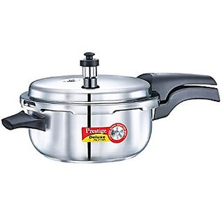 Prestige Popular Deluxe Alpha Deep Pan Inducton Base Staninless Steel Pressure 5 L Cookers