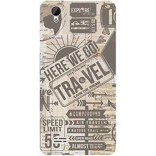 Casotec Travel Design 3D Printed Hard Back Case Cover for Vivo Y31