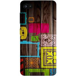 Casotec Stamps on Wooden Texture Design 3D Prited Hard Back Case Cover for Lenovo ZUK Z2