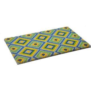 Matzone Cocovin Coir Doormat Diamond Green 40X60 Cms