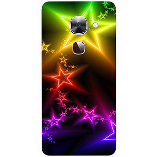 Casotec Stars Light Colorful Design 3D Printed Hard Back Case Cover for LeEco Le Max 2