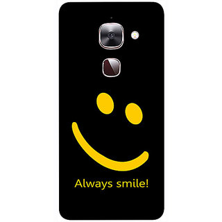 Casotec Happy Quote Design 3D Printed Hard Back Case Cover for LeEco Le Max 2
