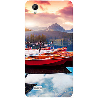 Casotec Sunset Sea Design 3D Printed Hard Back Case Cover for Vivo Y31