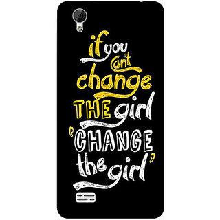 Casotec Changing Girl Design 3D Printed Hard Back Case Cover for Vivo Y31