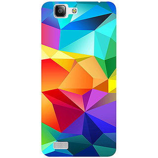 Casotec Colorfull Pattern Design 3D Printed Hard Back Case Cover for Vivo X3S
